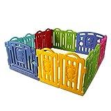 CCLIFE Parque infantil bebe Plástico para Bebés para Niños Corralito Bebe centro de actividades de seguridad centro de actividades de seguridad, Color:DLFGT001A001rbw