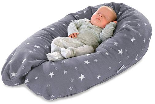 Almohada perfecta para embarazo y lactancia, color gris